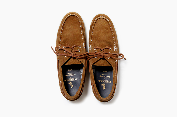 nonnative x regal gore tex 2l cow leather dweller deck shoe