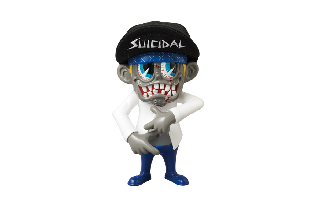 suicidal tendencies x zacpac x medicom toy institutionalized skum kun vinyl toy