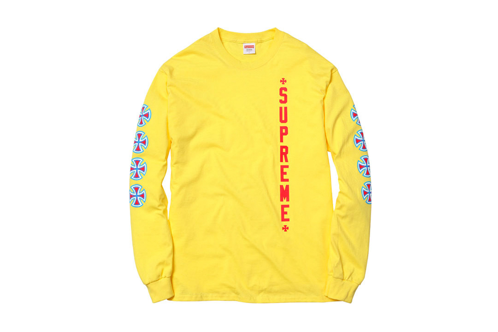 supreme x independent truck company 2012 spring summer t shirts