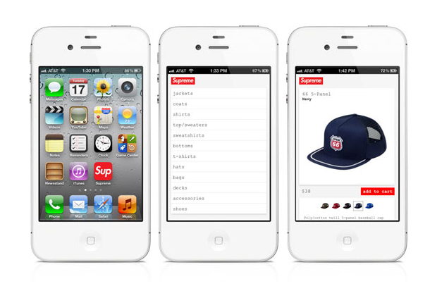 Supreme Announces iPhone Website
