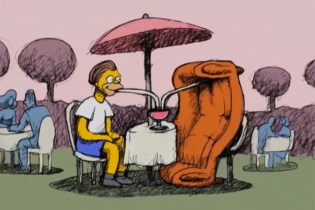 The Simpsons Couch Gag by Bill Plympton