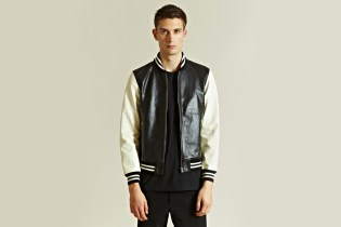 WACKO MARIA Leather Stadium Jacket