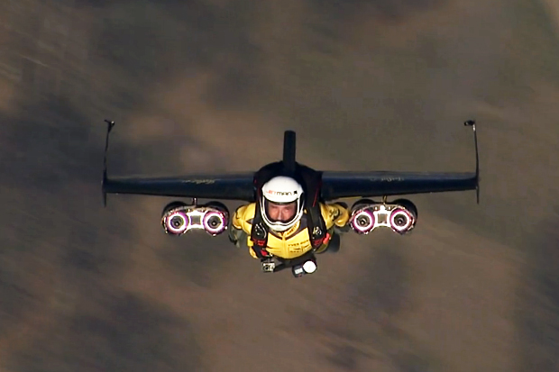 "Yves Rossy ""Jetman"" Test Flights in Swiss Airspace"