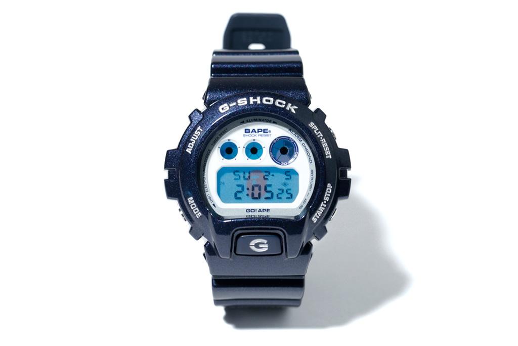 A Bathing Ape x Casio G-Shock DW-6900 Metallic Navy