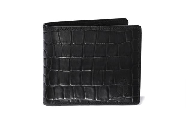 a bathing ape crocodile pattern leather wallet