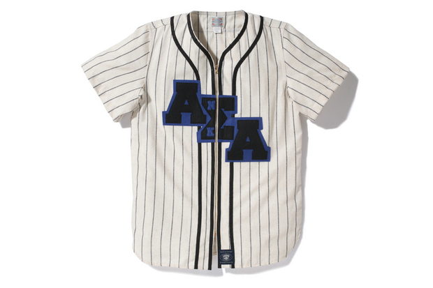 a bathing ape x ebbets field flannels baseball s s shirt