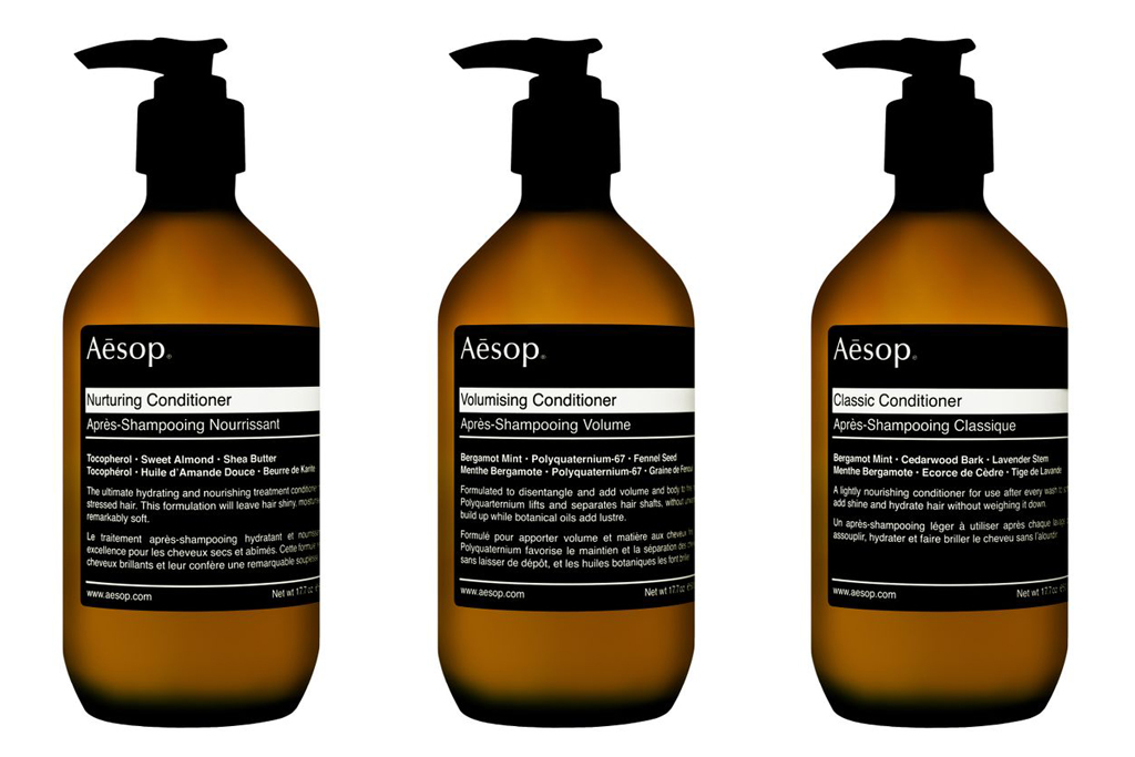 Aesop 2012 Black Label Hair Care Collection