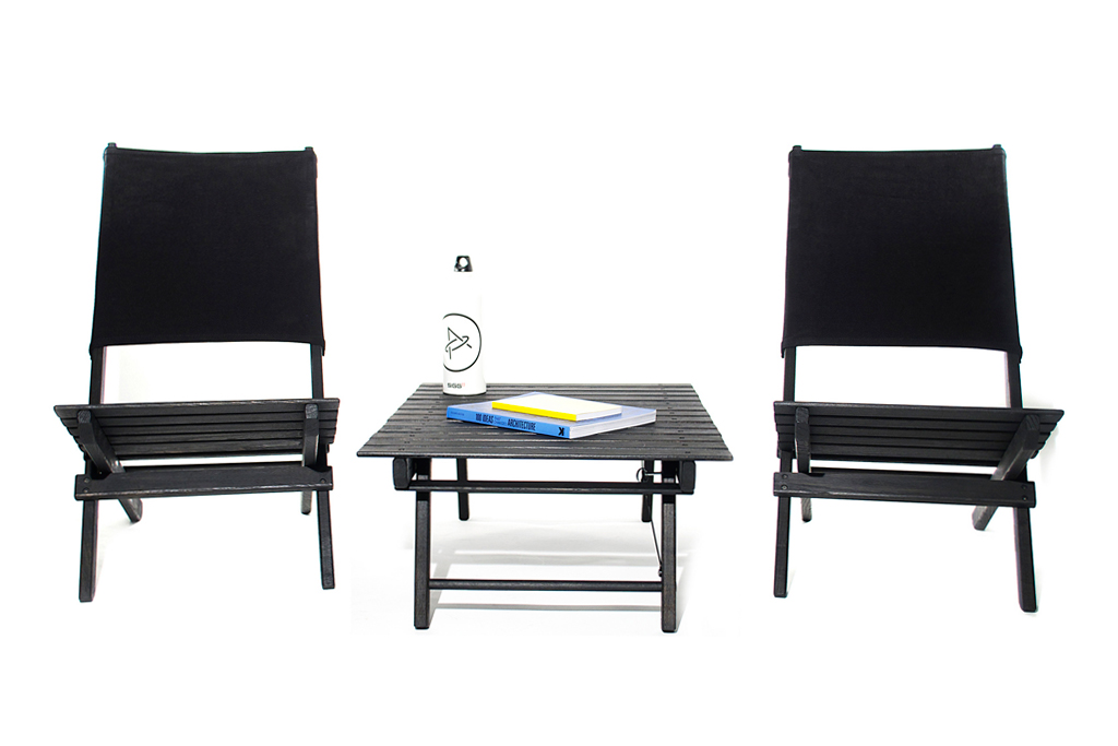 Aether Apparel x Environment Beach Folding Chairs & Table