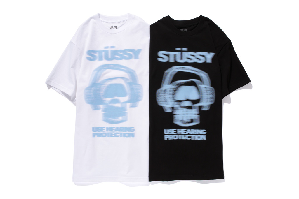 """Stussy 2012 Spring/Sumer """"Use Hearing Protection"""" T-Shirt"""