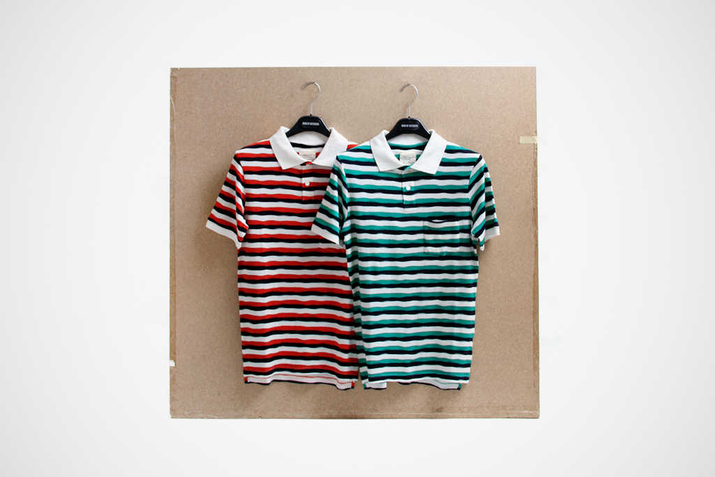 band of outsiders 2012 spring summer striped polo shirts