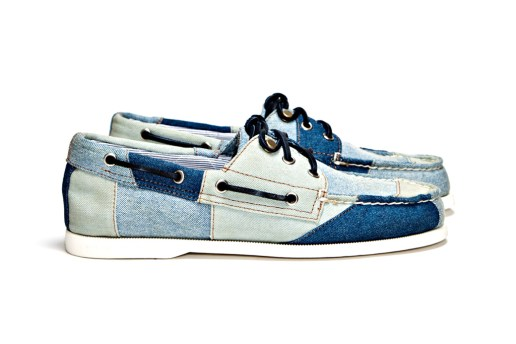 Band of Outsiders x Sperry Top-Sider 3-Eye Tri Tone Denim Boat Shoe