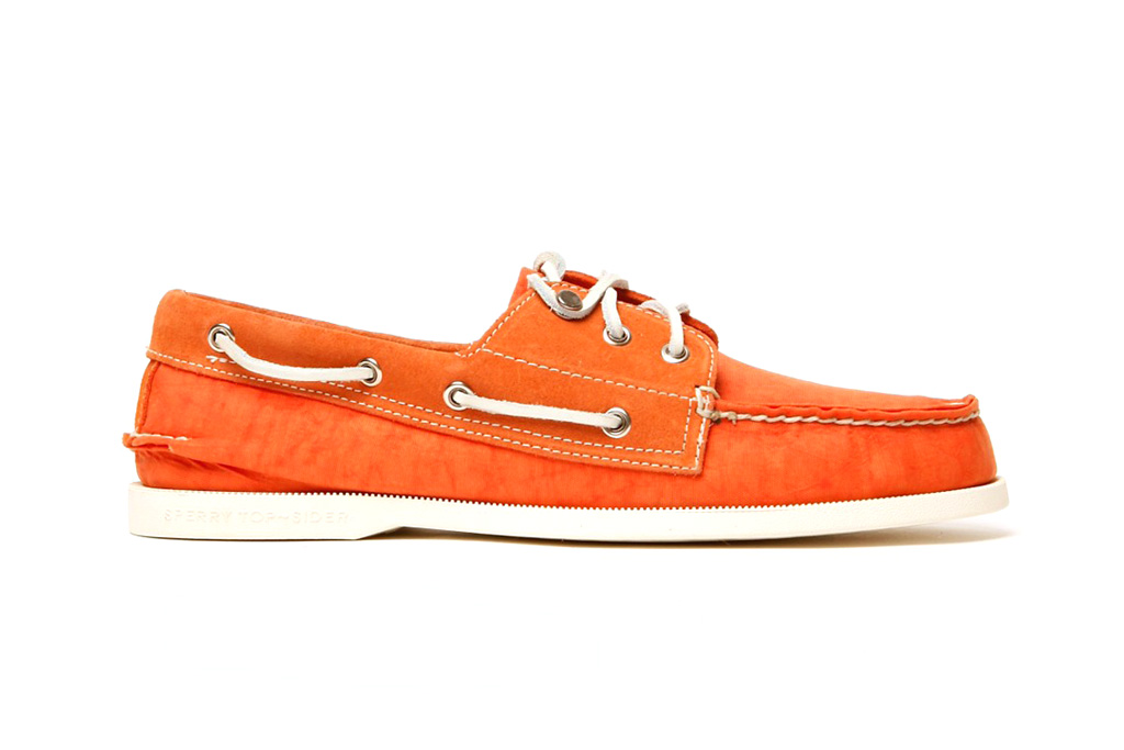band of outsiders x sperry top sider 3 eye boat shoe