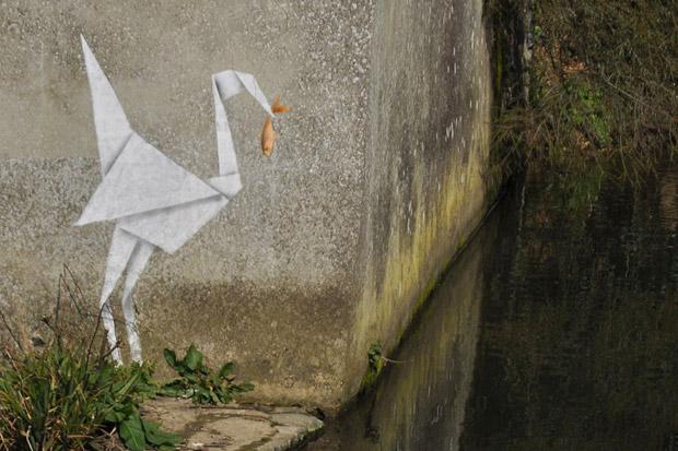 Banksy Unveils New Outdoor Works