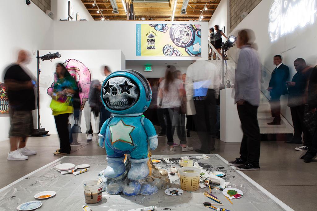 chris brown x ron english dum english launch recap cory helford gallery
