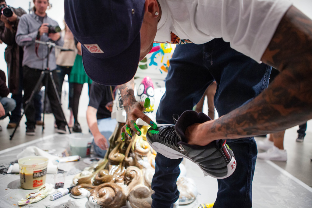 chris brown x ron english dum english launch recap cory helford gallery