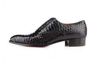 "Christian Louboutin ""Python Crystal"" Platers Flat"