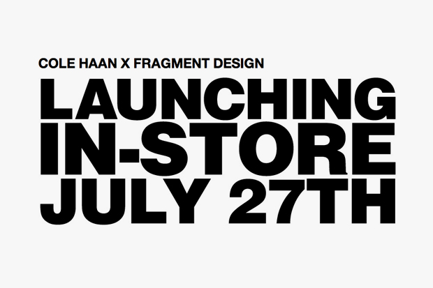 Cole Haan x fragment design Announcement