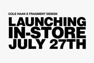 Cole Haan x fragment design Announcement