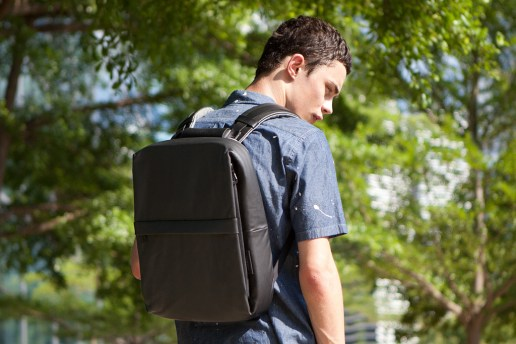 Côte&Ciel 2012 Coated Techno Canvas Flat Backpack