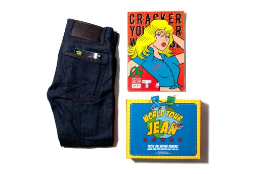 "CRACKER YOUR WARDROBE x Naked & Famous ""WORLD TOUR JEAN"" 13oz Denim"