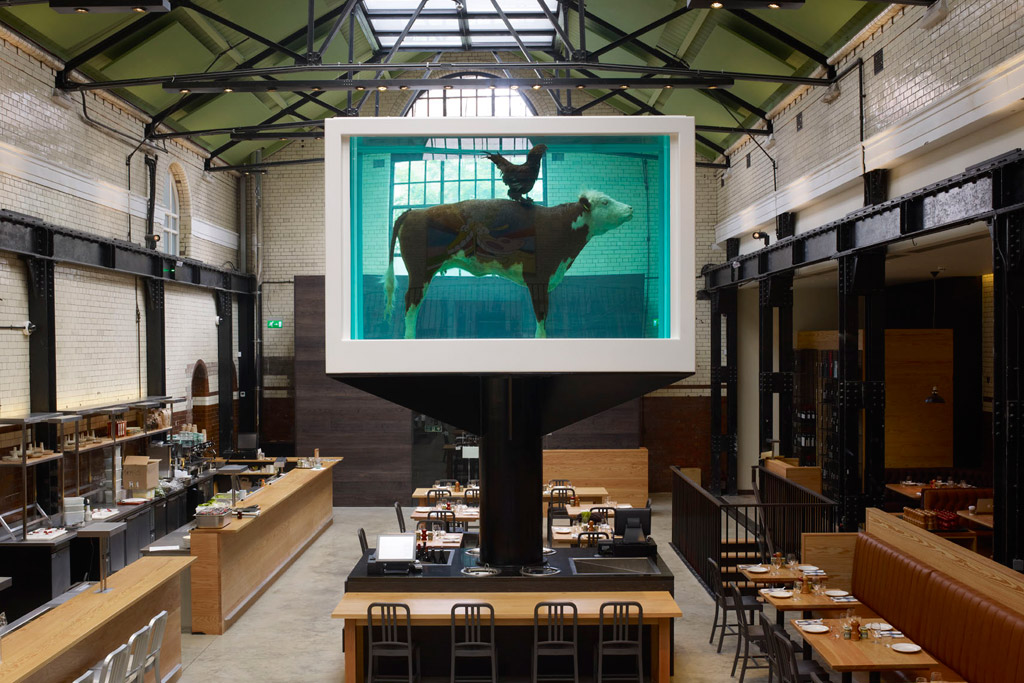 damien hirsts cock and bull tramshed restaurant