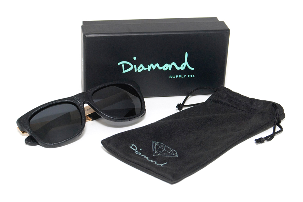 Diamond Supply Co. Leather Wrapped Sunglasses