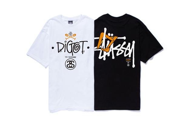 digot x stussy 1st anniversary t shirt