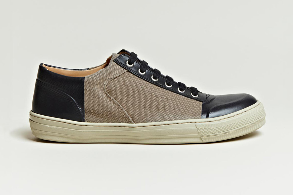 dries van noten 2012 spring summer canvas vinyl panel shoe