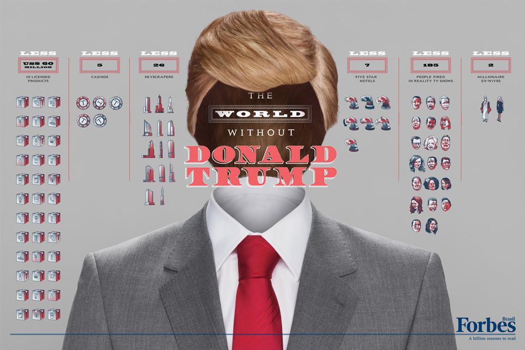 Forbes: The World Without Donald Trump, Eike Batista, Richard Branson, Bill Gates, Tiger Woods, Mark Zuckerberg