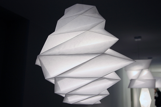 in ei lampshades by issey miyake for artemide