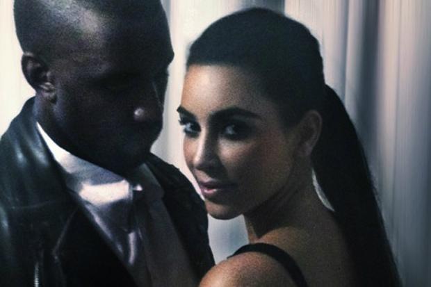 Kanye West and Kim Kardashian by Nick Knight