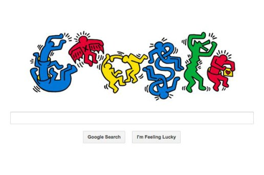 Keith Haring x Google 'Happy Birthday'