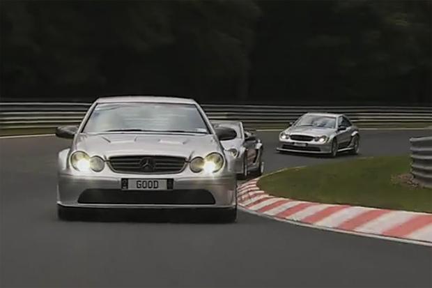 Kim Dotcom & Kimi Raikkonen Race Modded CLK-DTMs on the Nürburgring