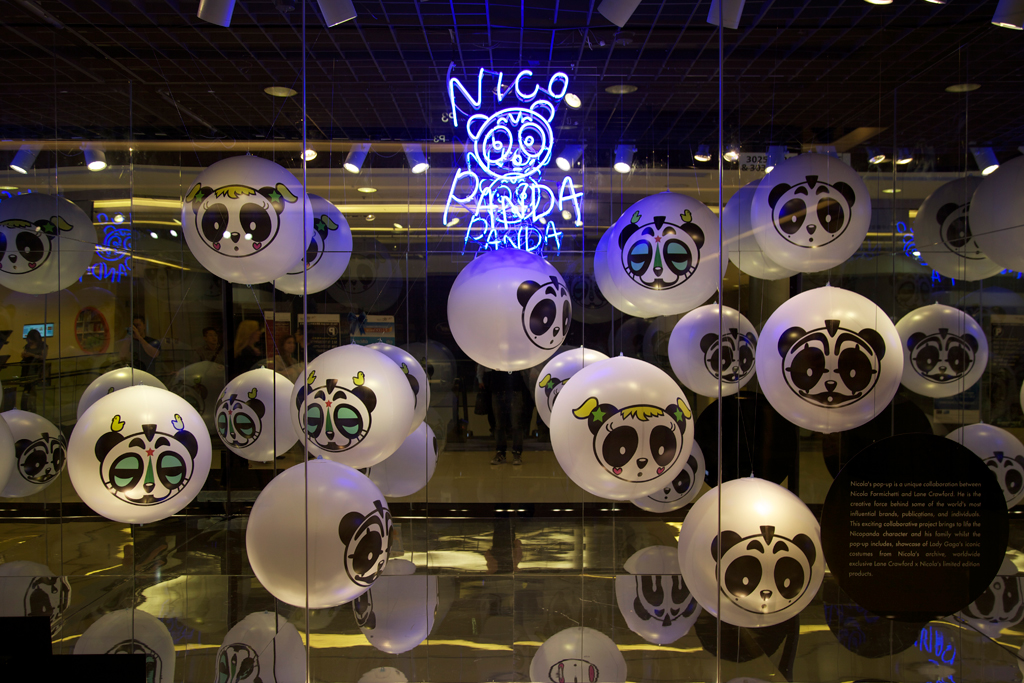 lane crawford x nicola formichetti nicopanda invasion pop up shop