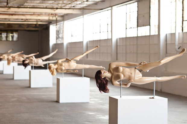 Life-Sized Lady Nutcrackers by Jennifer Rubell