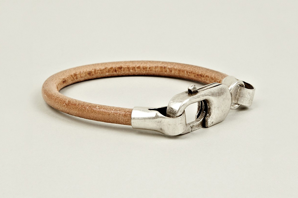 maison martin margiela 2012 pre fall brass and leather bracelet