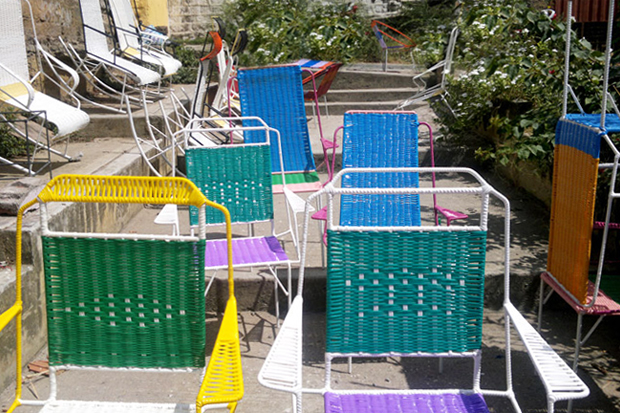 marni taps columbian ex prisoners to create 100 chairs