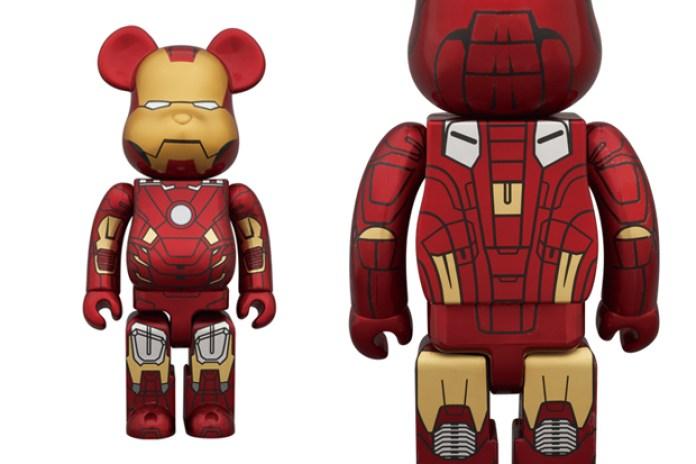 Medicom Toy 400% & 100% Iron Man Mark VII Bearbrick