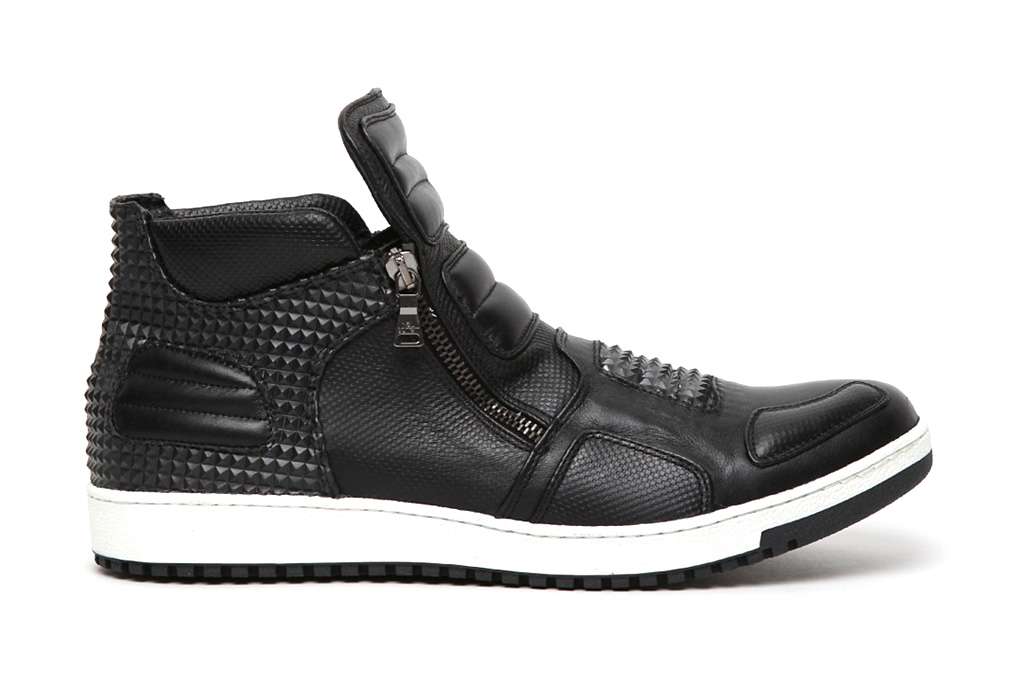 neil barrett 2012 spring summer dickensian leather pyramid trainer