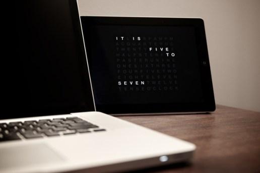 QLOCKTWO Clock App for iPad & iPhone