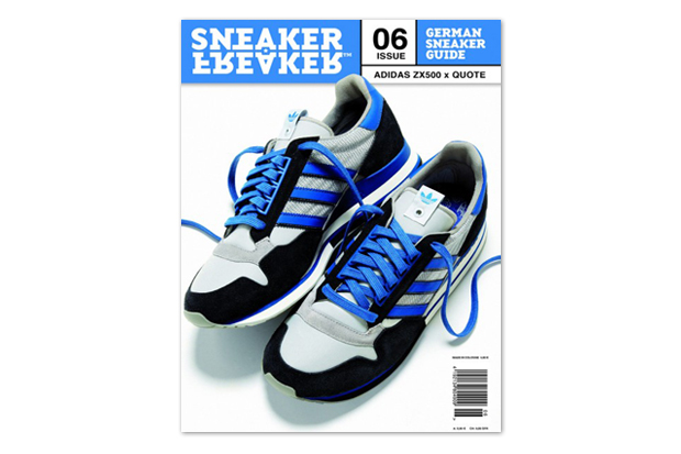 Quote x adidas ZX 500 Preview on Cover of Sneaker Freaker Germany Issue 06
