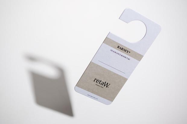"retaW ""BARNEY"" Fragrance Room Tag"