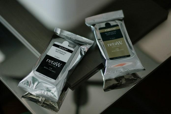 retaW 2012 Fragrance Wet Tissue ALLEN* & EVELYN*
