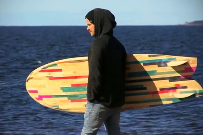 RETO: A Surfboard Made from Recycled Skateboards
