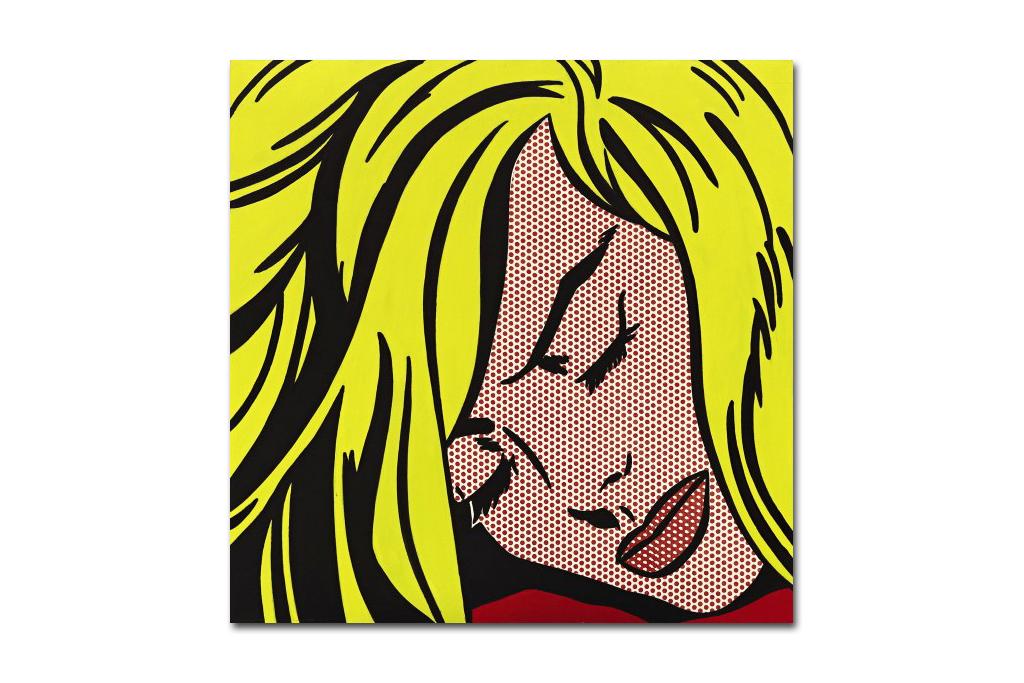 roy lichtensteins sleeping girl sells for 44 8 million