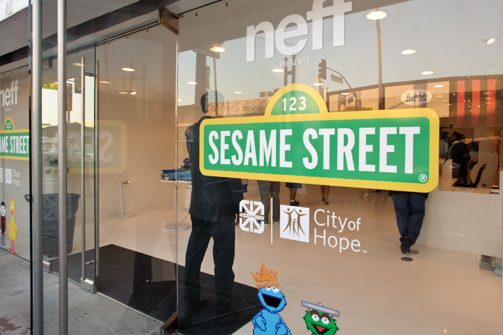 sesame street goes street art with the seventh letter