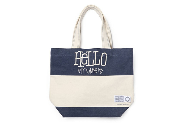 stussy x flavor x porter hello tote bag