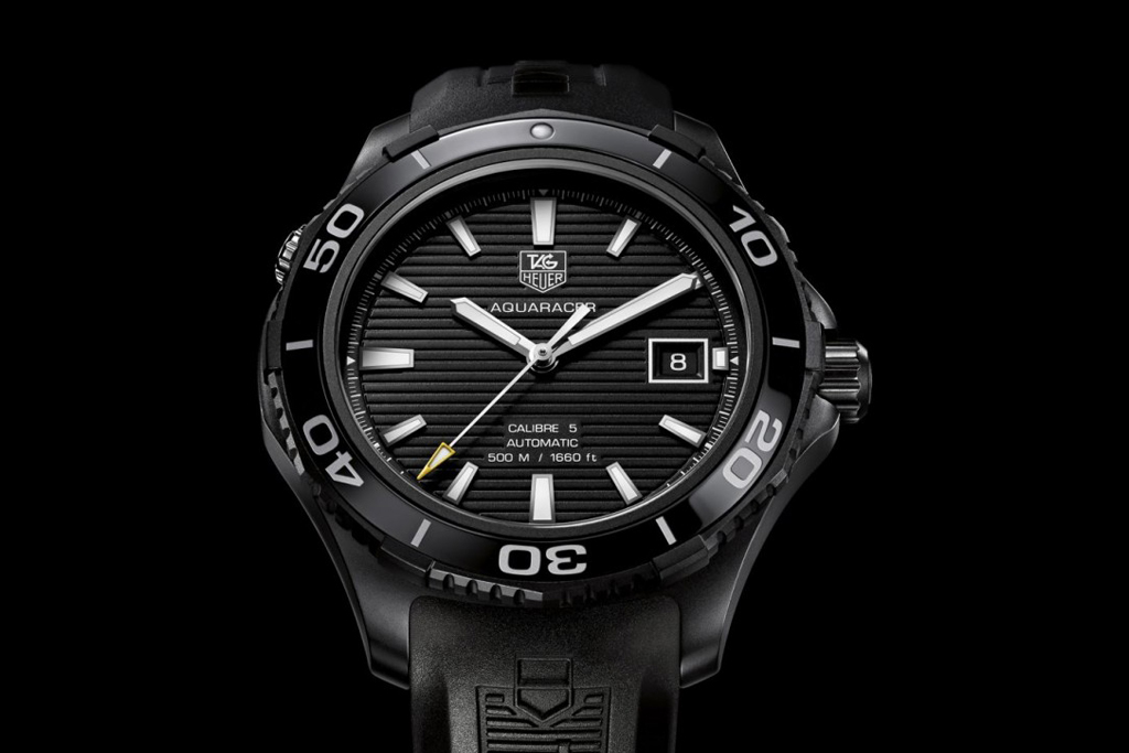 tag heuer aquaracer 500m ceramic watch full black