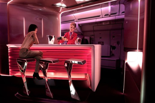 Virgin Atlantic Airways Upper Class Bar and Cabin by VW+BS Studio