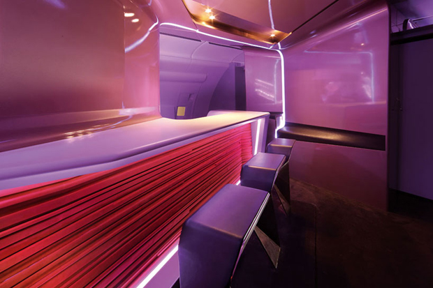 Virgin Atlantic Airways Upper Class Bar and Cabin by VW+BS Studio